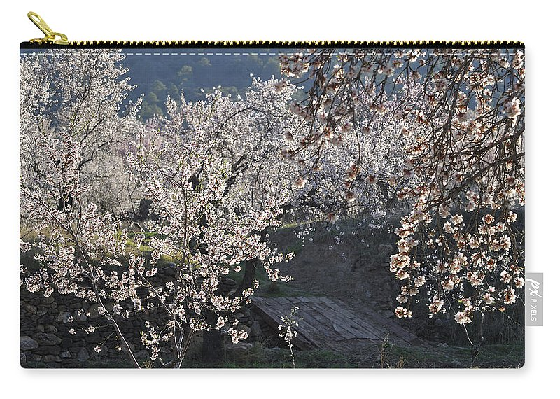 Almond Carry-all Pouch featuring the photograph Flowering Almond by Guido Montanes Castillo