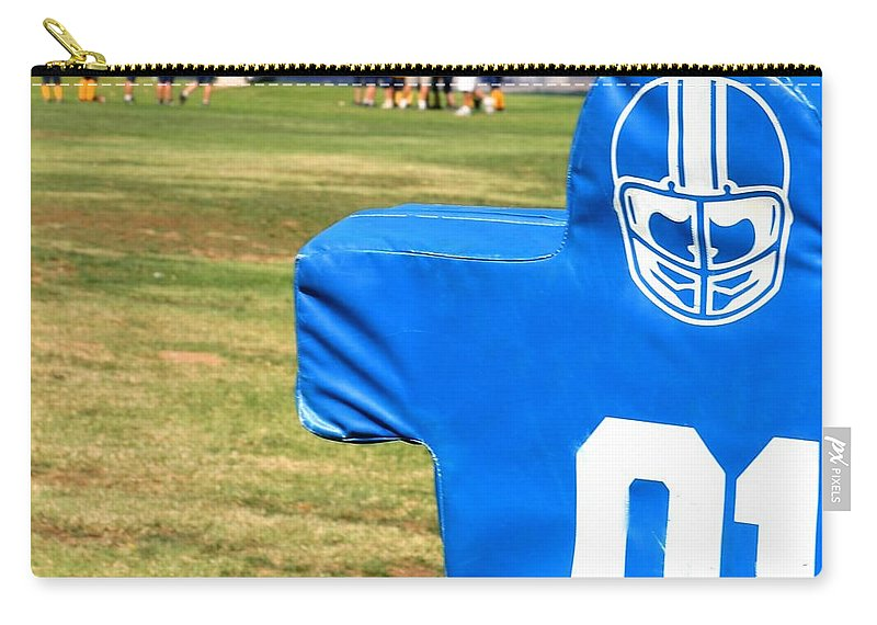 American Carry-all Pouch featuring the photograph Football Dummy by Henrik Lehnerer