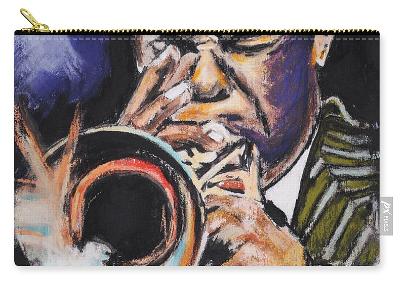 Freddie Hubbard Carry-all Pouch featuring the painting Freddie Hubbard 1 by Melanie D
