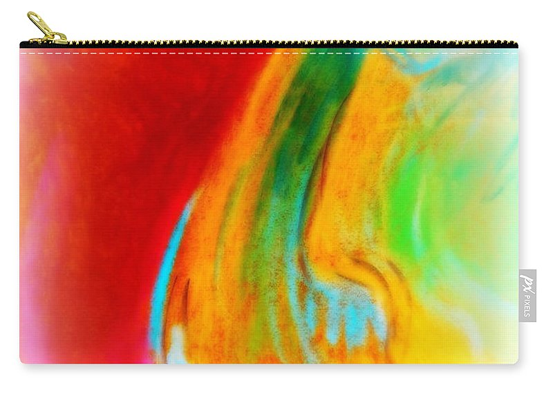 Art Carry-all Pouch featuring the painting Fuchsia Flower by Sue Jacobi