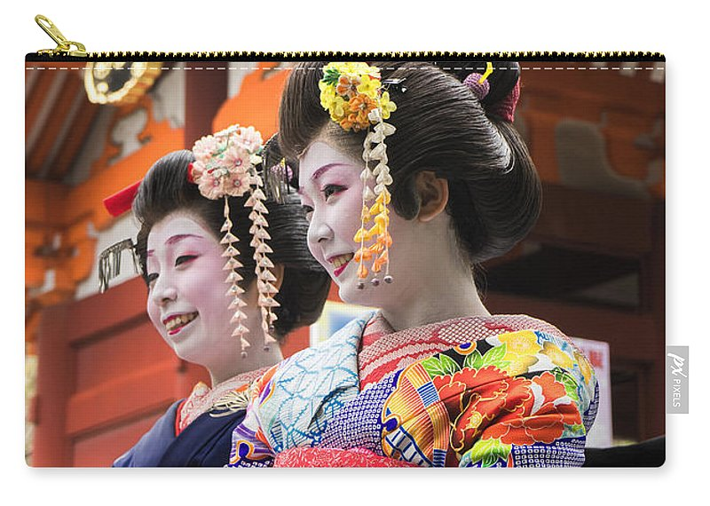 Japan Carry-all Pouch featuring the photograph Geishas Senso Ji by For Ninety One Days