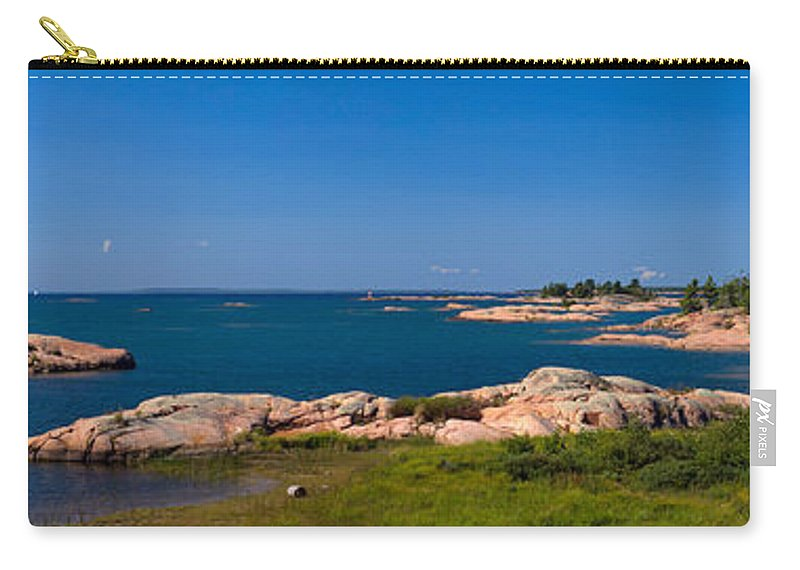 Georgian Carry-all Pouch featuring the photograph Georgian Bay Coastline by Les Palenik