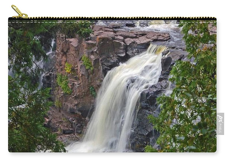 Gooseberry Falls Carry-all Pouch featuring the photograph Gooseberry Falls by Stephanie Hanson