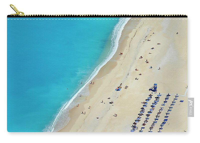 Water's Edge Carry-all Pouch featuring the photograph Greece, Ionian Island, Cephalonia by Tuul & Bruno Morandi