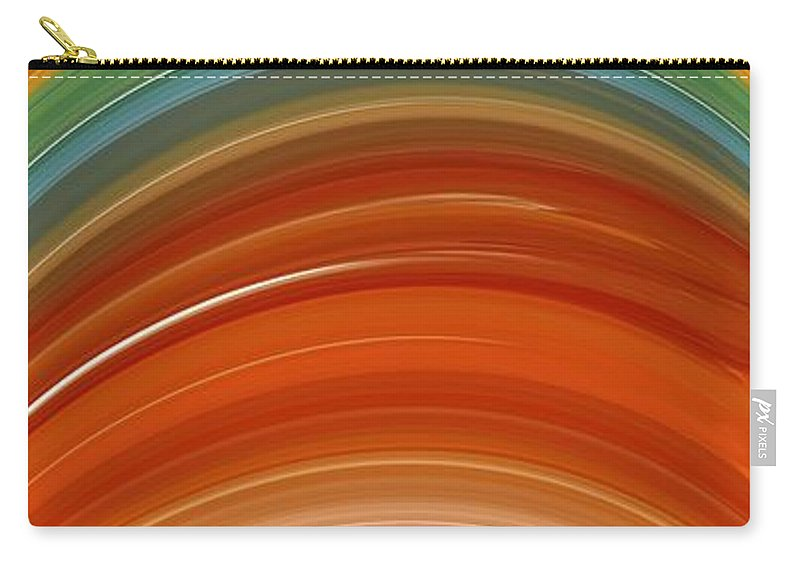 Growth Rings Carry-all Pouch featuring the digital art Growth Rings by Chris Butler