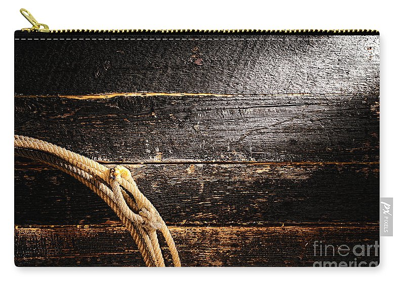 Cowboy Carry-all Pouch featuring the photograph Grunge Lasso by Olivier Le Queinec