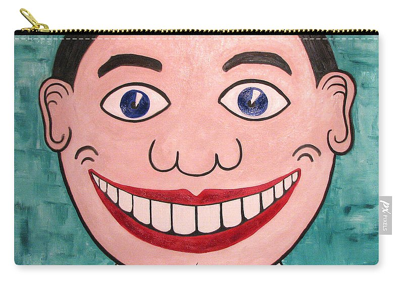Tillie Carry-all Pouch featuring the painting Happy Tillie by Patricia Arroyo