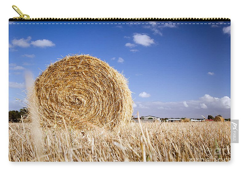 Farm Carry-all Pouch featuring the photograph Hay Bales by Tim Hester