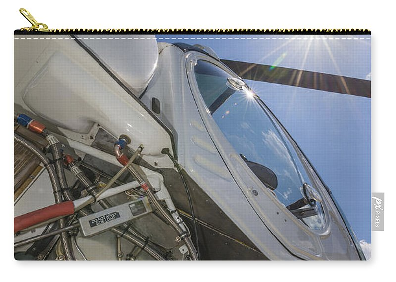 Helicopter Carry-all Pouch featuring the photograph Helicopter by Mats Silvan