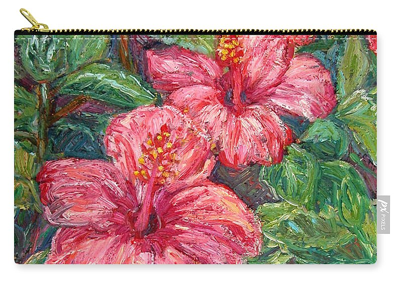 Hibiscus Carry-all Pouch featuring the painting Hibiscus by Kendall Kessler