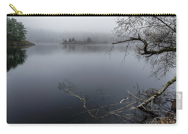 Hosmer Pond Camden Maine Carry-all Pouch featuring the photograph Hosmer Pond In Camden Maine by Marty Saccone