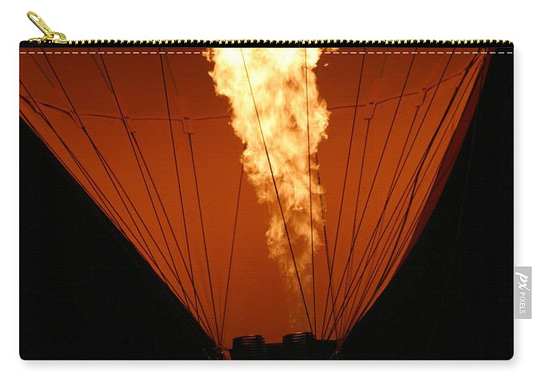 Adventure Carry-all Pouch featuring the photograph Hot Air Balloon by Henrik Lehnerer