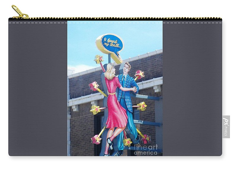 Blueberry Hill Carry-all Pouch featuring the photograph I Found My Thrill by Kelly Awad