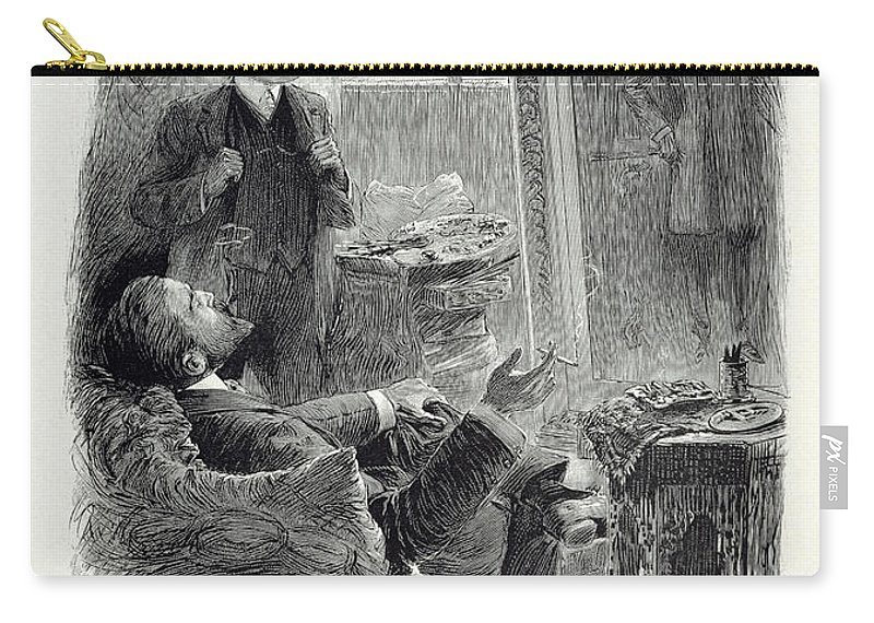 First Published 1891 Carry-all Pouch featuring the drawing Illustration From The Picture Of Dorian by Paul Thiriat