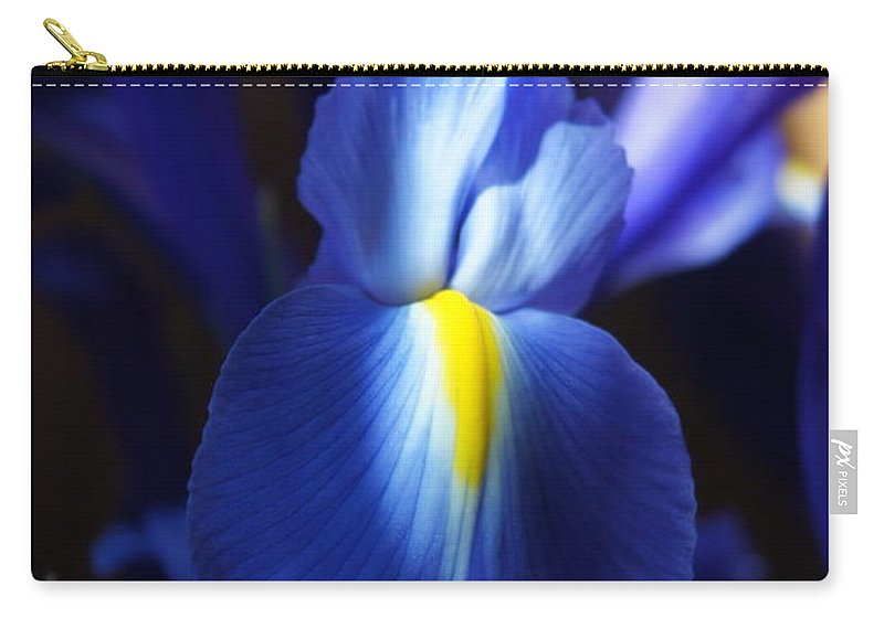 Iris Carry-all Pouch featuring the photograph Iris by Megan Cohen