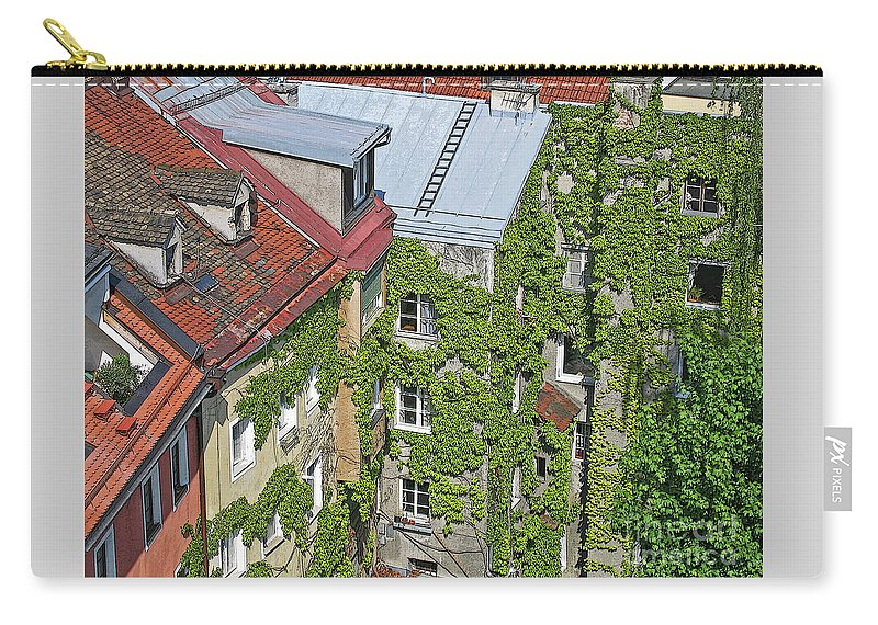 Innsbruck Carry-all Pouch featuring the photograph Ivy Courtyard by Ann Horn