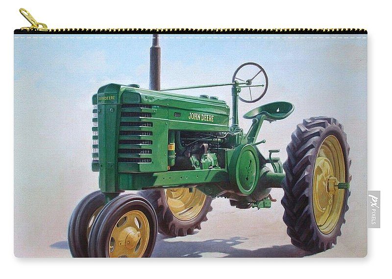 Tractor Carry-all Pouch featuring the painting John Deere Tractor by Hans Droog
