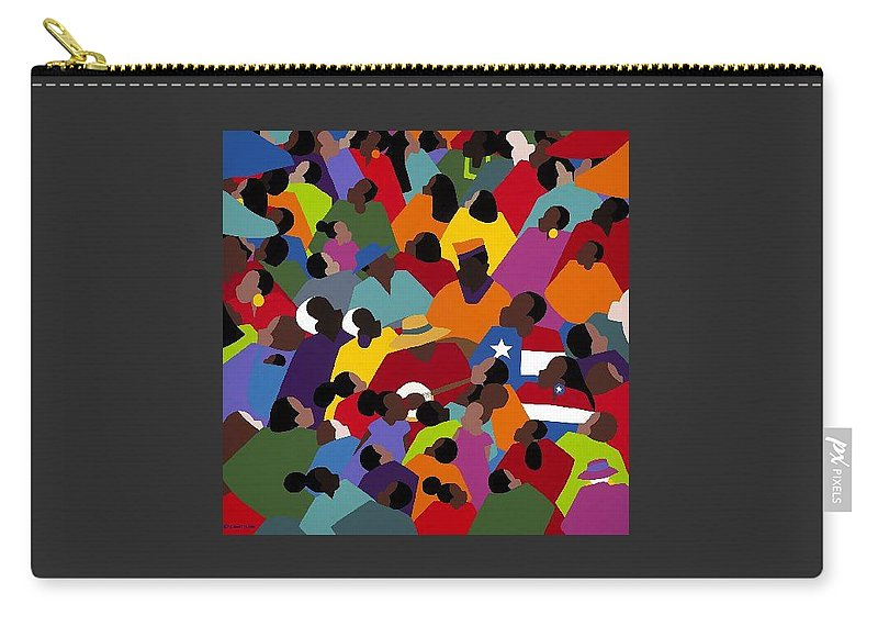 Juneteenth Carry-all Pouch featuring the painting Juneteenth by Synthia SAINT JAMES