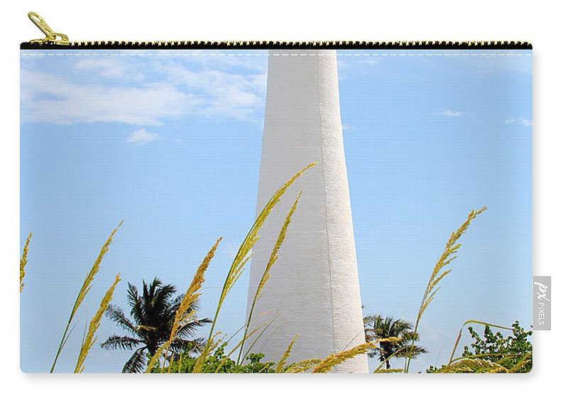 Lighthouse Carry-all Pouch featuring the photograph Key Biscayne Lighthouse by Carey Chen