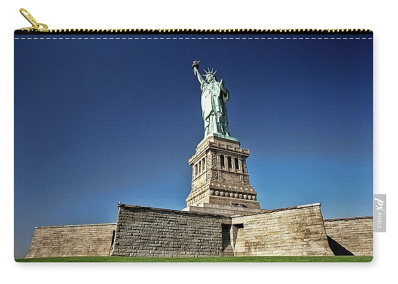 Allen Beatty Carry-all Pouch featuring the photograph Lady Liberty 2 by Allen Beatty