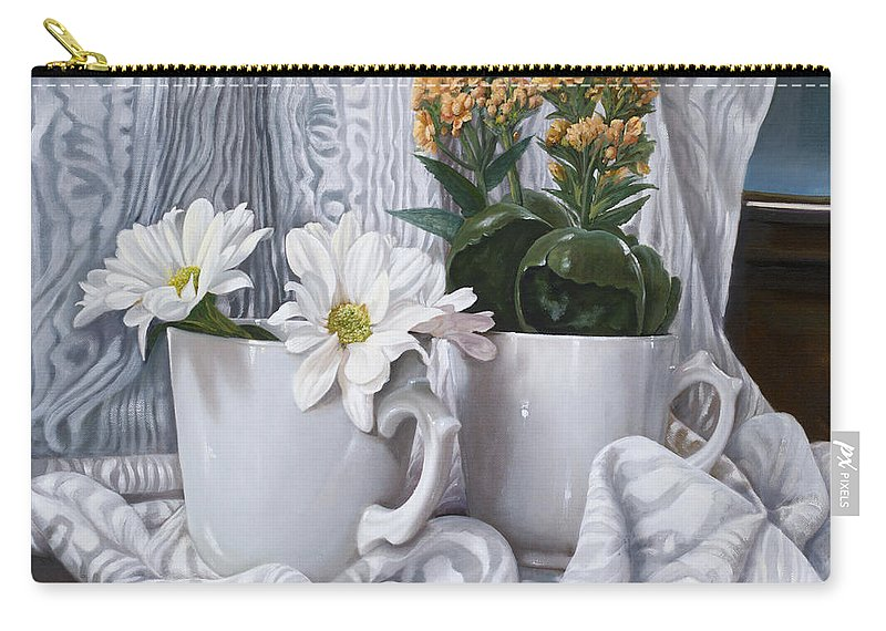 Margherite Carry-all Pouch featuring the painting Le Gerbere by Danka Weitzen