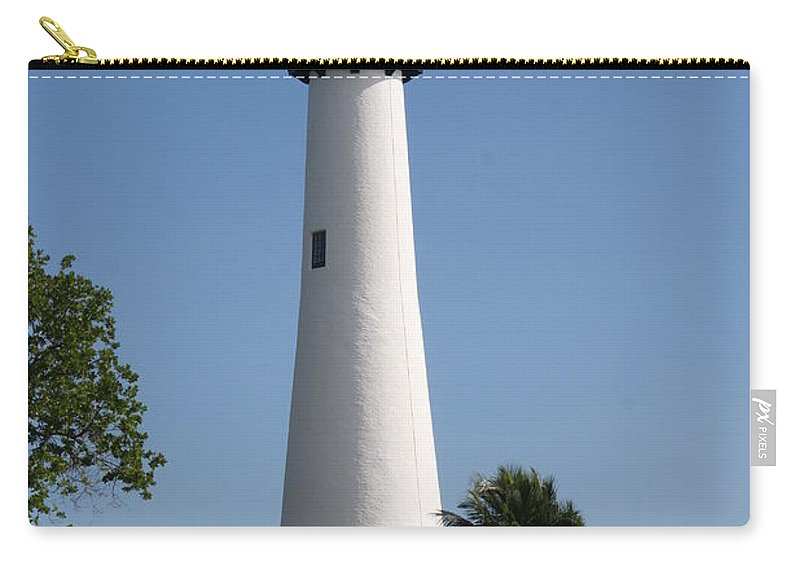 Ligthouse Carry-all Pouch featuring the photograph Ligthouse - Key Biscayne by Christiane Schulze Art And Photography