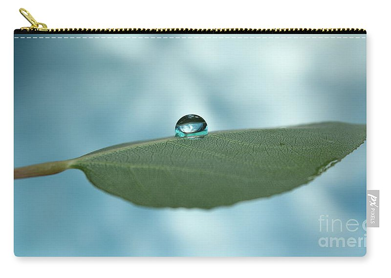 Leaf Carry-all Pouch featuring the photograph Liquid Marble by Krissy Katsimbras