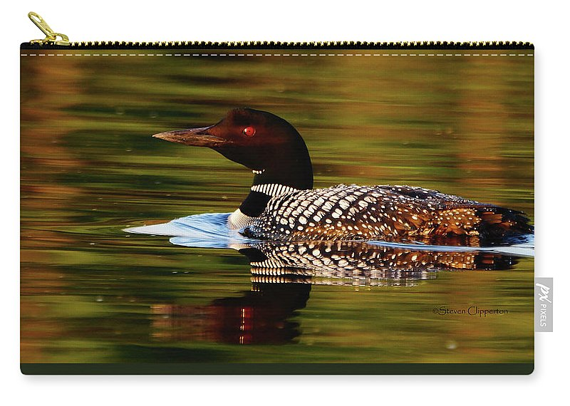 Loon Carry-all Pouch featuring the photograph Loon 6 by Steven Clipperton