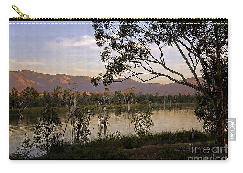 Lower Otay Lake Carry-all Pouch featuring the photograph Lower Otay Lake - California by Yefim Bam