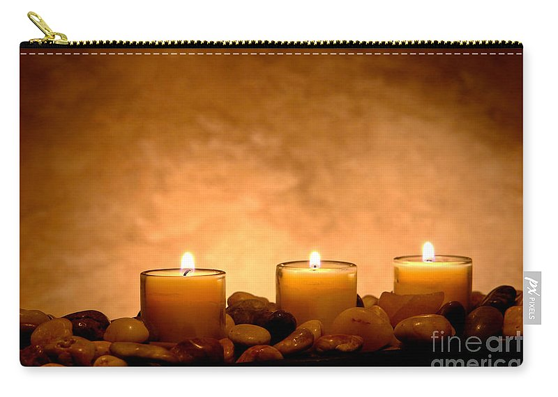 Candle Carry-all Pouch featuring the photograph Meditation Candles by Olivier Le Queinec