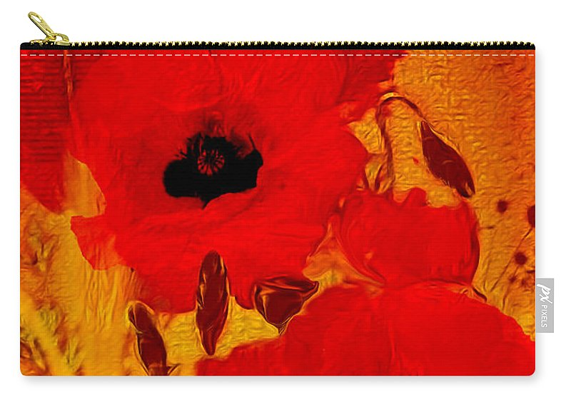 Painting Carry-all Pouch featuring the painting Mellow Yellow by Valerie Anne Kelly