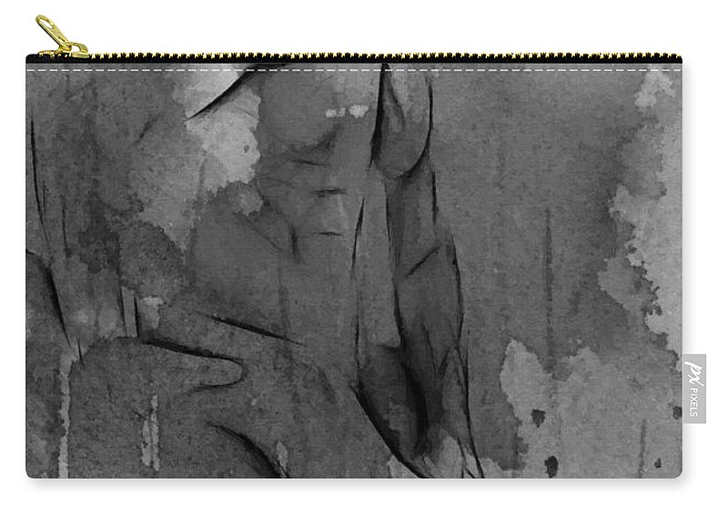 Man Woman Female Male Sex Sexual Erotic Memory Memories Naked Nude Corps Carry-all Pouch featuring the painting Memories by Steve K