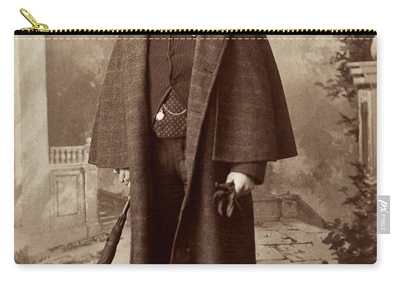 1885 Carry-all Pouch featuring the photograph Men's Fashion, C1885 by Granger