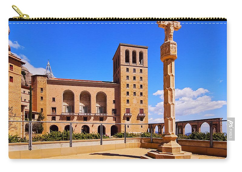 Horizontal Carry-all Pouch featuring the photograph Monastery In Montserrat by Karol Kozlowski