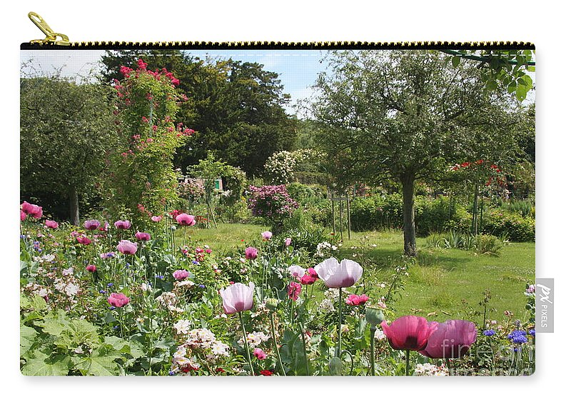 Monet Carry-all Pouch featuring the photograph Monets Garden - Giverney - France by Christiane Schulze Art And Photography