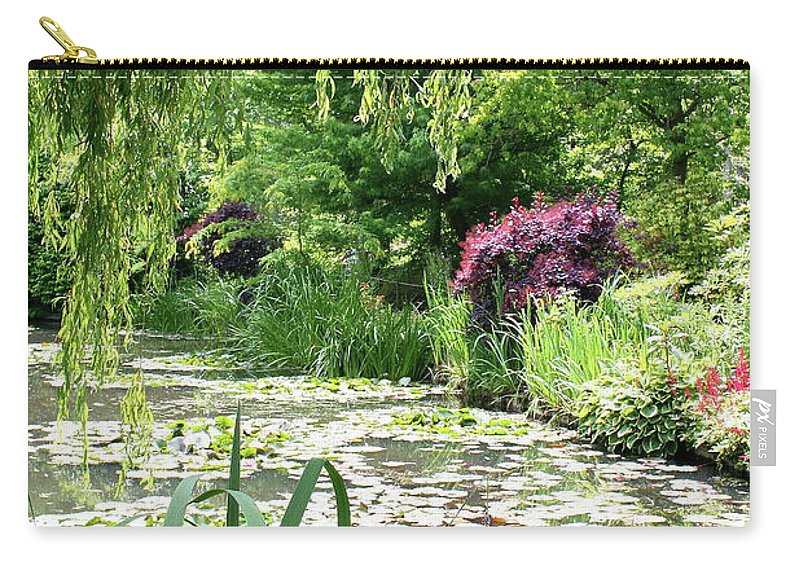 Pond Carry-all Pouch featuring the photograph Monets Waterlily Pond by Christiane Schulze Art And Photography