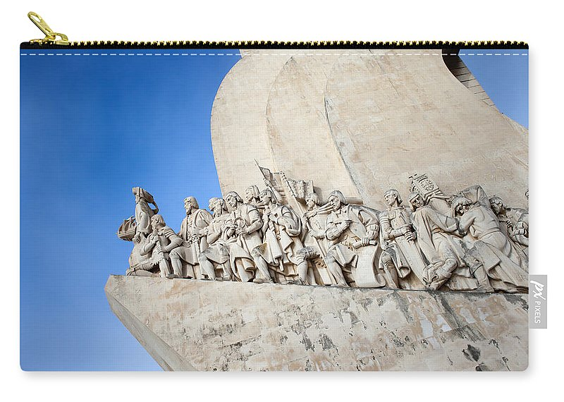 Lisbon Carry-all Pouch featuring the photograph Monument To The Discoveries In Lisbon by Artur Bogacki
