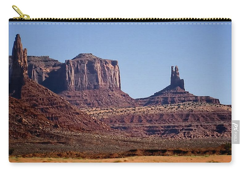 Landscape Carry-all Pouch featuring the photograph Monument Valley by Jon Berghoff