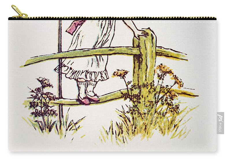 1881 Carry-all Pouch featuring the photograph Mother Goose: Bo-peep by Granger