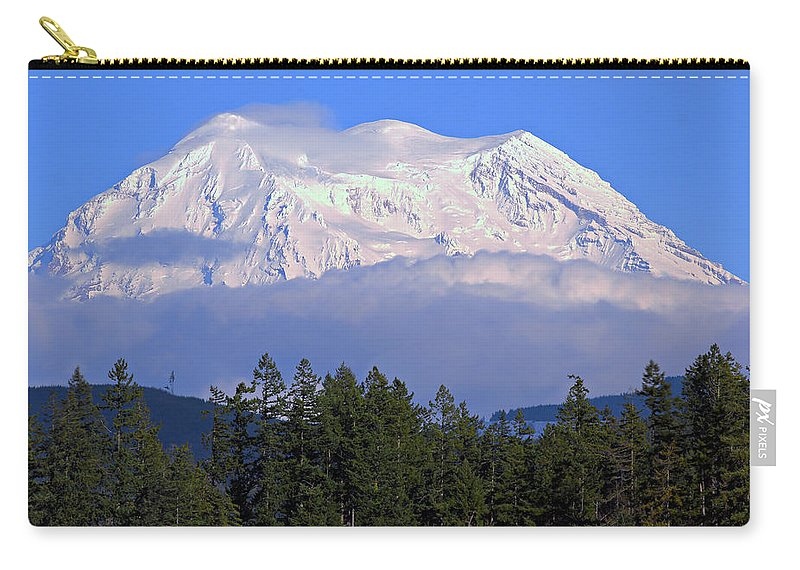 Outdoor Carry-all Pouch featuring the photograph Mount Rainier by Paul Fell