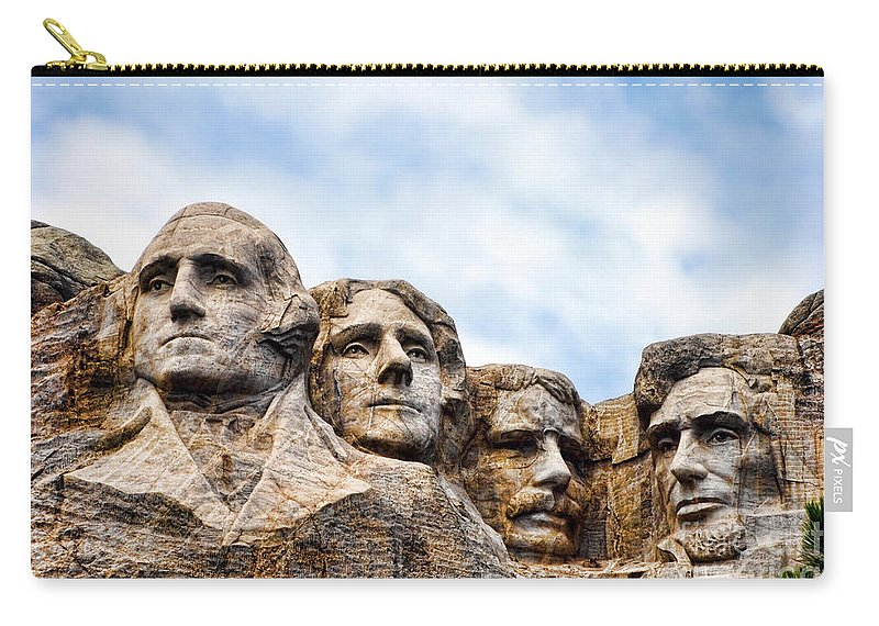 Mount Carry-all Pouch featuring the photograph Mount Rushmore Monument by Olivier Le Queinec