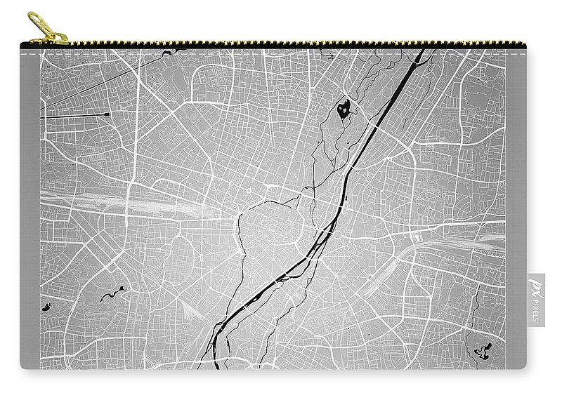 Map Of Germany To Color.Munich Street Map Munich Germany Road Map Art On Color Carry All Pouch