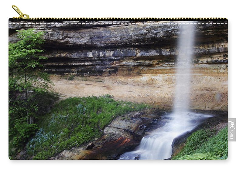 3scape Carry-all Pouch featuring the photograph Munising Falls by Adam Romanowicz