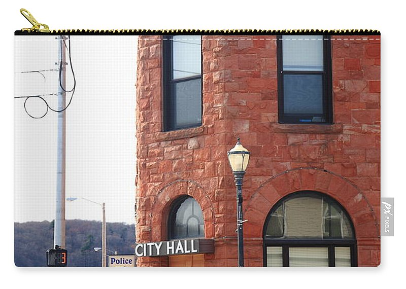 America Carry-all Pouch featuring the photograph Munising Michigan - City Hall by Frank Romeo