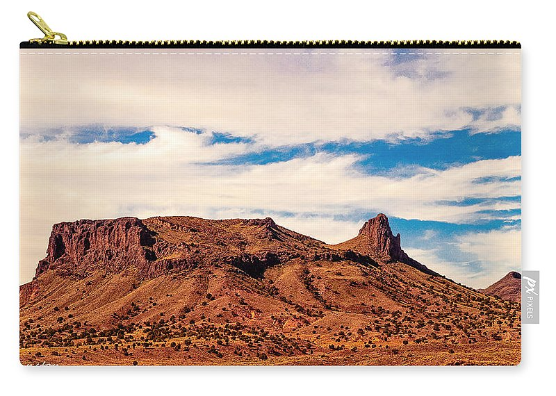 Arizona Carry-all Pouch featuring the digital art Navajo Nation Series Along 87 And 15 by Bob and Nadine Johnston