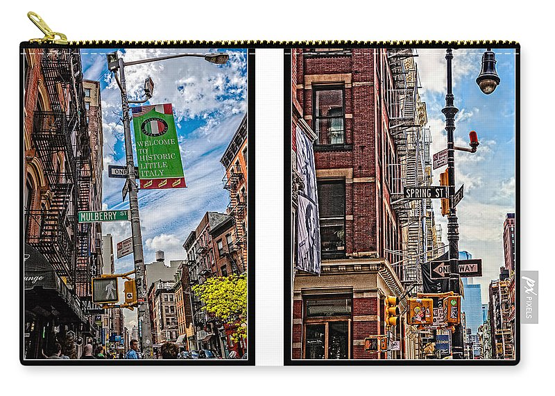 Mulberry Street Carry-all Pouch featuring the photograph New York City by Madeline Ellis