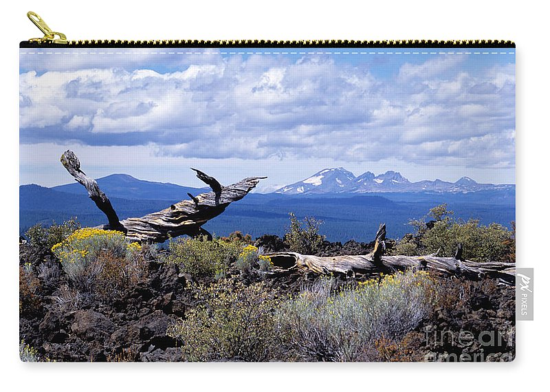 Newberry Carry-all Pouch featuring the photograph Newberry Lava Beds by Sharon Elliott