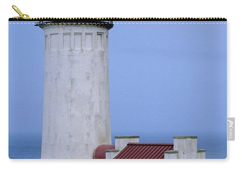 North Head Light Carry-all Pouch featuring the photograph North Head Light by Sharon Elliott