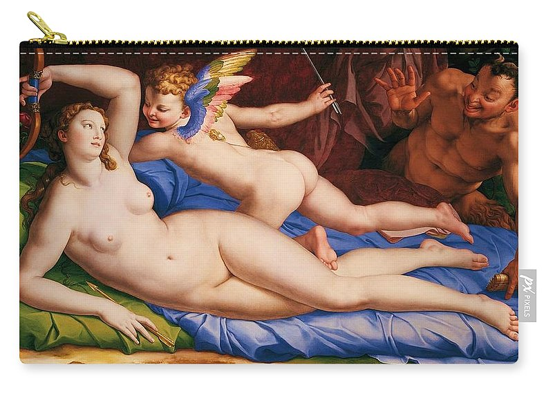 Bronzino Carry-all Pouch featuring the painting Nude Art by Snowflake Obsidian