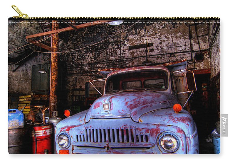 Antique Carry-all Pouch featuring the photograph Old Pickup Truck Hdr by Amy Cicconi